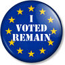 "I VOTED REMAIN 1"" Pin Button Badge EU Flag YES European Union Referendum Brexit"