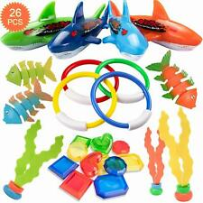 26 Pack Diving Toy for Pool Use Underwater Swimming/Diving Pool Toy Rings, Toype