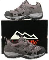 Mens New Grey Black Waterproof Hiking Walking Trainers Size 6 7 8 9 10 11 12 13