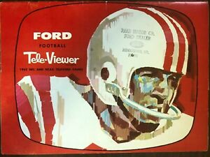 FORD FOOTBALL TELE-VIEWER 1962 NFL AND NCAA TELEVISED GAMES PROGRAM VERY GOOD