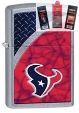 Zippo 29363 Houston Texans NFL Street Lighter + FUEL FLINT & WICK GIFT SET