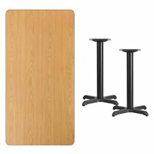 Flsh-Xunattb3060T2222Gg-3 0'' x 60'' Rectangular Natural Laminate Table Top with