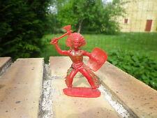 Vintage JEAN HOEFFLER W GERMANY: INDIEN avec arme, couleur rouge très bon état