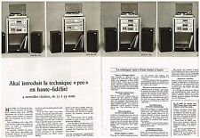 Publicité Advertising 1980 (2 pages) Les Chaines HI-Fi Akai