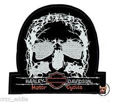 HARLEY DAVIDSON TNT SKULL VEST PATCH * RETIRED DESIGN * MOTORCYCLE BIKER JACKET