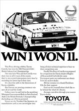 TOYOTA COROLLA COUPE RETRO A3 POSTER PRINT FROM CLASSIC 80's ADVERT