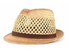 PL Mulligan Fedora Bucket Dress Fashion Hat Cap Lid Brown 100% Paper S/M