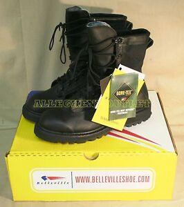 NEW Belleville Wellco Military Waterproof Black Combat Goretex Boots SZ 2-6.5
