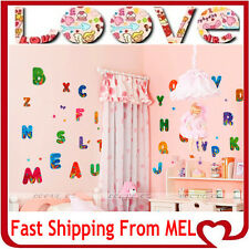 A-Z ALPHABET Removable Wall Art Stickers Decal Vinyl Papers Kids Home Nursery