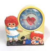 Vintage 1974 Janex Raggedy Anne & Andy Equity Talking Alarm Clock Parts Repair