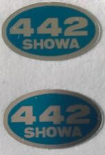 HONDA CB250N CB400N SUPERDREAM FRONT FORK SHOWA CAUTION WARNING LABEL DECALS X 2