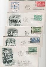 US FDC 1949 Year Set 14 First Day Covers All Cacheted With Addresses |