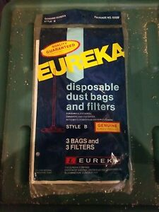 Genuine Eureka Style B Vacuum Bags 52329 - 3 Pack Bags and Filters