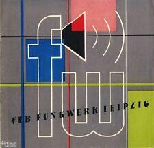 VEB Funkwerk Leipzig kleiner Katalog Prospekt Lautsprecher Zubehör DDR 1956