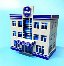 1:87 HO Scale Outland Police Office Staion Government Building Morden Model  *