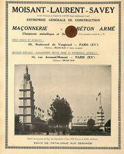 """PARIS / CONSTRUCTIONS MOISANT LAURENT SAVEY / LE PIEU """" ZENITH """" PUBLICITE 1931"""