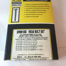 ESCORT,ORION,FIESTA,SIERRA 1.6/1.8 DIESEL MODELS ENGINE HEAD BOLT SET UHB18D
