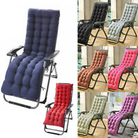 125cm Soft Cotton Seat Pad Replacement Cushion Garden Sun Lounger Recliner Chair