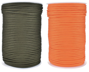 Paracord 550 4mm Green/Orange 7 Strand Mil Spec Cord Rope Survival Bushcraft