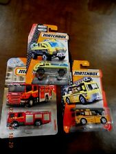 (3) Fire Trucks. Yellow/Blue Airport FD, Red Scania P360, Orange Yellow Ladder