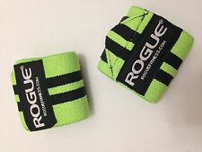 "Rogue Fitness Wrist Wraps, Long 24"", Green, Power/Weight Lifting, Crossfit, WOD"