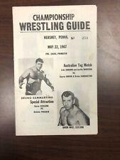 Wrestling program Bruno Sammartino, May 1967, Hershey PA