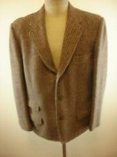 Mens 42R Vtg 1940's Harris Tweed Brown Hacking Riding Jacket Blazer Sport Coat