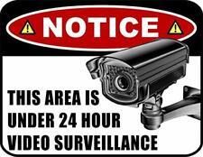Security Surveillance Sign 24 Hour Burglar-Robber-Thief Video Warning sp38