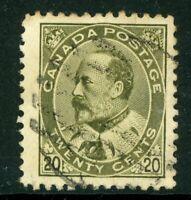 Canada 1903 Admiral 20¢ Brown Scott #94 VFU F270