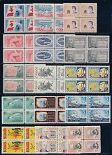 Canada (20) different blocks of 4, Mnh Og, $10.04 face.