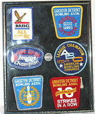 Plaque Award Display Detroit Bowling Assoc. Patches Champion Congress Rare