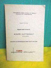 Polese Appunti dalle lezioni di MISURE ELETTRICHE II° ( collaudi ) CUEN 1976