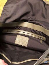 COACH SULLIVAN MESSENGER BAG IN PEBBLE GREEN LEATHER