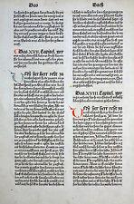 9. alemana Biblia Biblia germanica inkunabelblatt libro de los levitas Koberger 1483