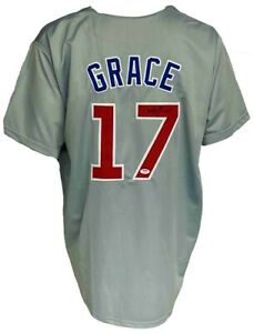 Chicago Cubs Mark Grace Autographed Pro Style Grey Jersey PSA Authenticated