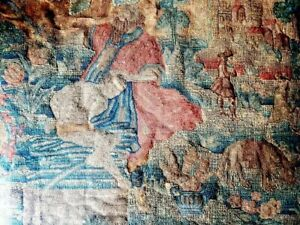17th Century English Antique Embroidery Depicting St John the Baptist