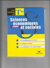 SCIENCES ECONOMIQUES ET SOCIALES (COURS) LES CARNETS DE Tle / HATIER / 1998