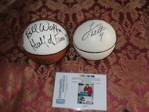 Bill Walton and Luke Walton Autographed Mini Basketballs