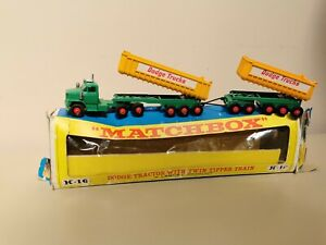 Boxed Matchbox King Size Dodge Tractor With Twin Tipper Train K16