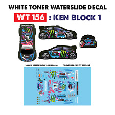 WT156 White Toner Waterslide Decals > KEN BLOC 1 >For Custom 1:64 Hot Wheels