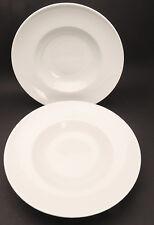 2 x Pastateller klassisch weiß Durchmesser ca. 30 cm
