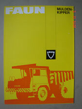 FAUN  Dumpers-Muldenkipper  brochure / Prospekt   1976.