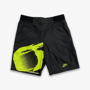 Nike Agassi Challenge Court Slam Shorts - Size XL - Black / Hot Lime CK9775-010
