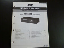 Original Service Manual JVC TD-X502