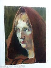 Ancienne huile sur toile portrait de femme, non signé a identifier oil on canvas