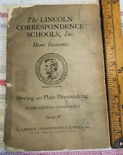 Antique Book 1917 The Lincoln Correspondence Schools Sewing and Dressmaking