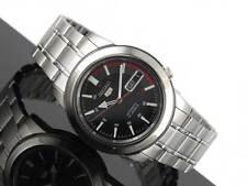 Seiko 5 Automatic Mens Watch Skeleton Back Black Racer Dial SNKK31K1 UK Seller