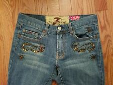7 For All Mankind Great China Wall Collection Women's Jeans size 28 Embellished