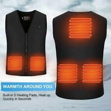 Electric Heated Vest USB Heating Jacket Winter Thermal Body Warm Coat Unisex