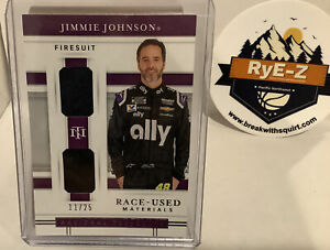 2020 National Treasures Nascar Jimmie Johnson Race-used Materials Firesuit /25